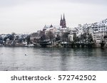 winter in basel  switzerland