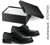 shoe box and man's black... | Shutterstock .eps vector #57274924