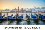 Gondolas Moored By Saint Mark - Fine Art prints