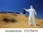 a man in a protective suit...   Shutterstock . vector #57275674