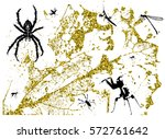 several insects on abstract... | Shutterstock .eps vector #572761642