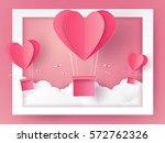 valentines day illustration of... | Shutterstock .eps vector #572762326