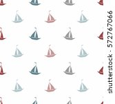 seamless sea pattern with... | Shutterstock .eps vector #572767066