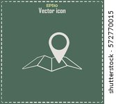 map pointer icon. line icon   Shutterstock .eps vector #572770015