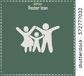 happy family icon in simple... | Shutterstock .eps vector #572777032