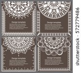 set of cards and invitation...   Shutterstock .eps vector #572779486