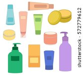 set of cosmetic vector... | Shutterstock .eps vector #572779612