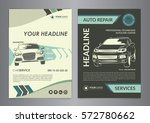 set a4 auto repair business... | Shutterstock .eps vector #572780662