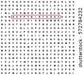 random letters spelling happy... | Shutterstock .eps vector #572784232