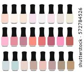 set of nail polish bottles icon.... | Shutterstock .eps vector #572784526