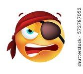 cute pirate emoticon on white...   Shutterstock .eps vector #572787052