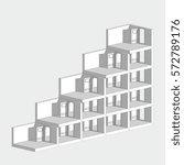 isometric door ladder isolated... | Shutterstock . vector #572789176