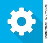 setting icon. white setting... | Shutterstock .eps vector #572790328