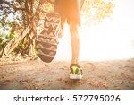 running in the sunlight for... | Shutterstock . vector #572795026