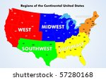 regions of the continental... | Shutterstock .eps vector #57280168