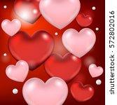 happy valentine's day... | Shutterstock .eps vector #572802016