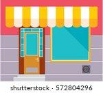 shop or cafe exterior. vector...   Shutterstock .eps vector #572804296