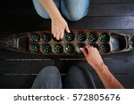 view from above of people... | Shutterstock . vector #572805676
