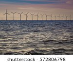 wind turbines generator farm... | Shutterstock . vector #572806798