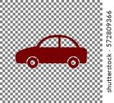 car sign illustration. maroon... | Shutterstock .eps vector #572809366