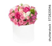 Bouquet Of Pink Roses In The...