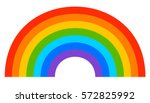 simple 7 color rainbow element | Shutterstock .eps vector #572825992