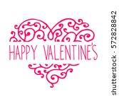 vintage valentine's day hand... | Shutterstock .eps vector #572828842
