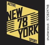 athletic sport typography  t... | Shutterstock .eps vector #572829748