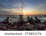 summer landscape at the vadu... | Shutterstock . vector #572831176