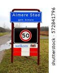 almere stad  flevoland  the... | Shutterstock . vector #572841796