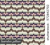 pattern of geometric shapes.... | Shutterstock .eps vector #572842702