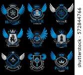 collection of vector heraldic... | Shutterstock .eps vector #572844766