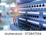 ethernet cable on network... | Shutterstock . vector #572847556