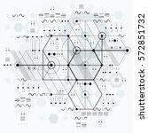 technical plan  engineering... | Shutterstock .eps vector #572851732