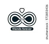 infinite friendship  friends... | Shutterstock .eps vector #572853436