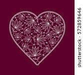lace heart. vector illustration   Shutterstock .eps vector #572859646