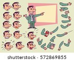 businessman. face and body... | Shutterstock .eps vector #572869855