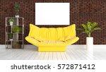modern bright interior with... | Shutterstock . vector #572871412