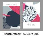 set of artistic creative... | Shutterstock .eps vector #572875606