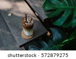iced coffee natural background.   Shutterstock . vector #572879275