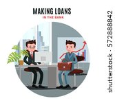 business loan template with... | Shutterstock .eps vector #572888842