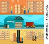 logistic warehouse horizontal...   Shutterstock .eps vector #572888932