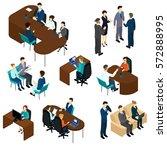 isometric recruitment process...   Shutterstock .eps vector #572888995