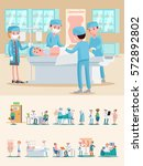 medical care composition with... | Shutterstock .eps vector #572892802