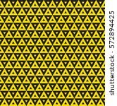 seamless yellow triangle... | Shutterstock .eps vector #572894425