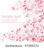 greeting floral pink card | Shutterstock .eps vector #57290272
