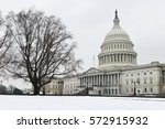 Stock photo washington dc in winter the united states capitol building 572915932