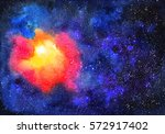 watercolor space. abstract...   Shutterstock . vector #572917402