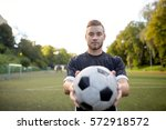 sport  football training and... | Shutterstock . vector #572918572