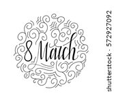 greeting card for 8 march.... | Shutterstock .eps vector #572927092